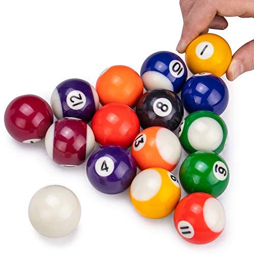 Mini Pool Balls  15 Balls Fit Tabletop Freestanding Miniature Billiards Tables  Real Resin Balls Perform Like Full Size Balls