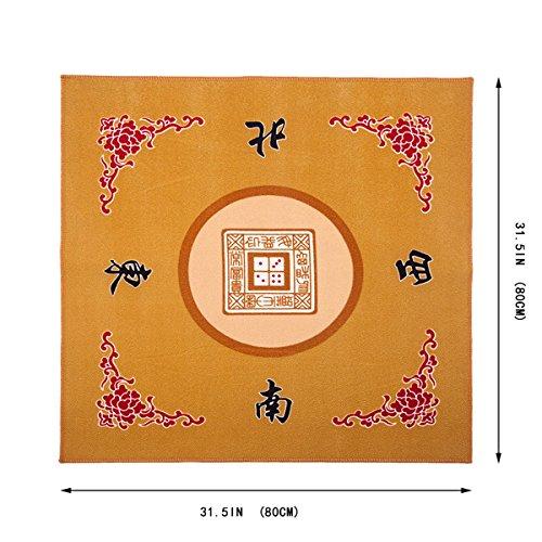 Universal Mahjong  Paigow  Card  Game Table Cover - Yellow Mat 315 x 315 80cm x 80cm