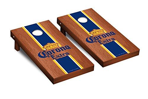 Gameroom 267480 Rosewood Stained Stripe Version Corona Cornhole Game Set