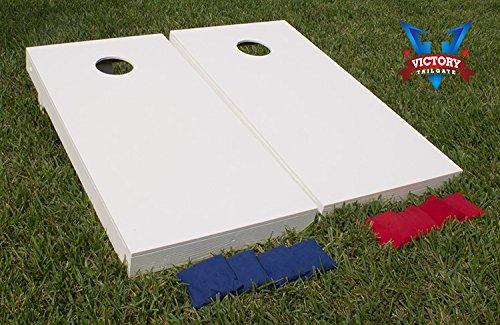 Gameroom 447 Primered Cornhole Bean Bag Toss Game White