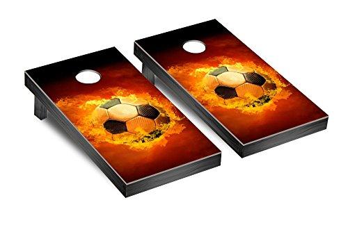 Gameroom UX-XXJW-II10 Flaming Soccer Ball Cornhole Bag Toss Game