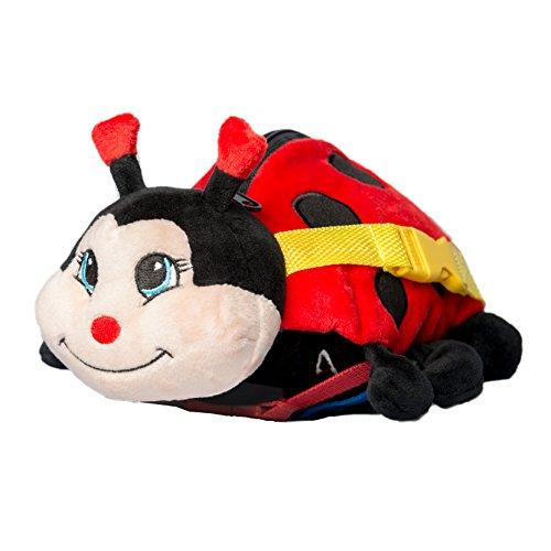 BUCKLE TOY Becky Ladybug - Toddler Early Learning Basic Life Skills Childrens Plush Travel Activity