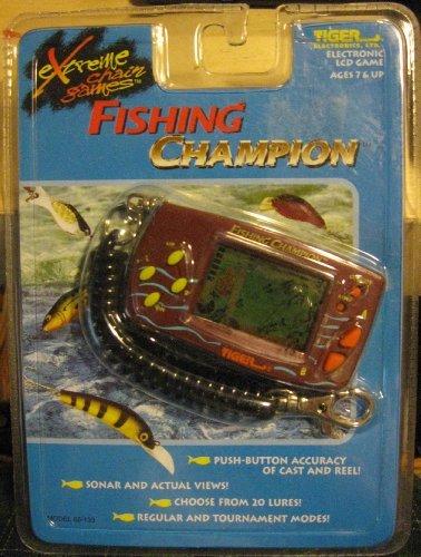 Fishing Champion - Electronic Handheld LCD Game - Tiger 1998