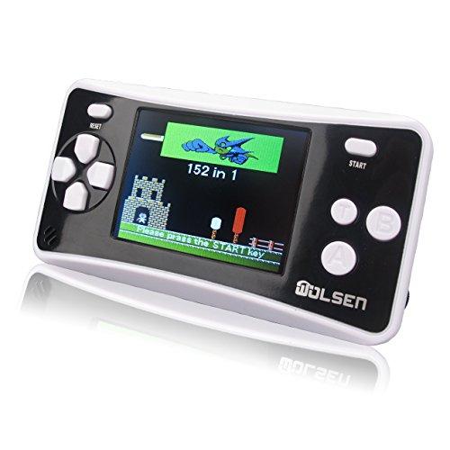 WOLSEN 25 Color Portable Handheld Game Console w152 Games speaker BLACK
