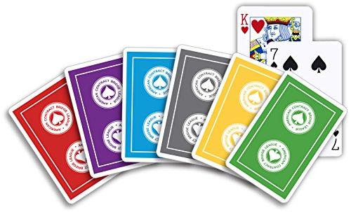 ACBL American Contract Bridge PLAYING CARDS - 1 Dozen Decks - Plastic Coated - Bridge Size