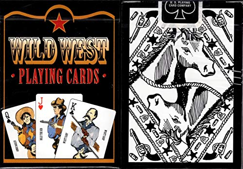 Wild West Black Playing Cards Poker Size Deck USPCC Custom Limited Edition