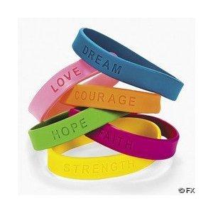24 Inspirational Sayings Bracelets Assorted Colors