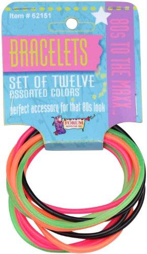 80s Color Rubber Bracelet Set