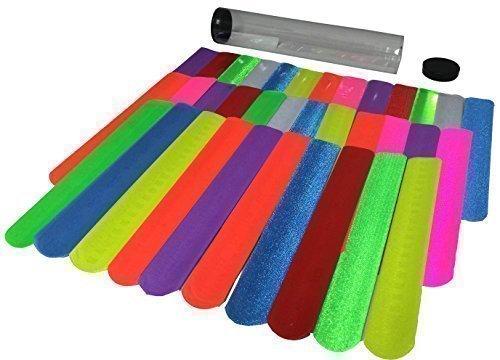 Gingerscoolstuff 35 Slap Bracelets Kids Boys Girls Party Favors All Solid Colors Over 8 Storage Tube Included