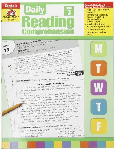 Evan Moor Book Daily Reading Comprehension - Grade 3