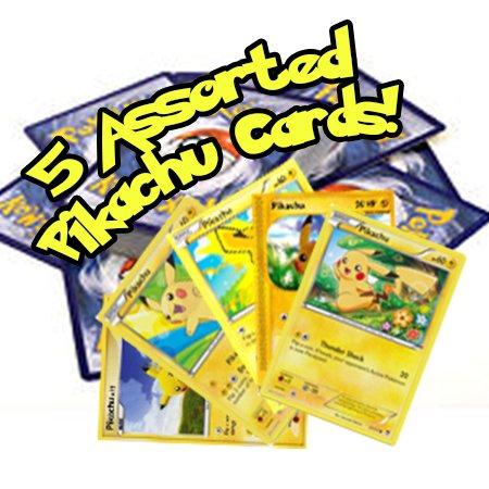 5 Assorted Pikachu Pokemon Cards