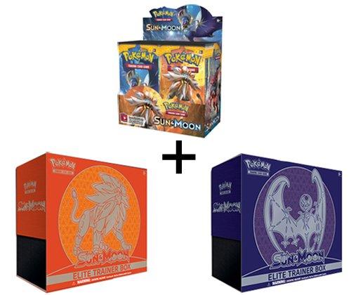 Pokemon TCG Sun Moon Booster Box  BOTH Elite Trainers Solgaleo Lunala