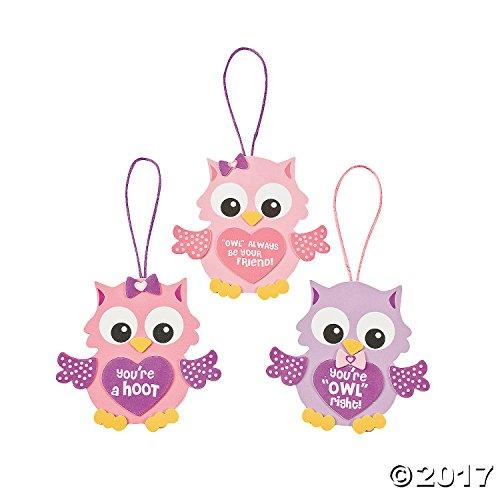Foam Valentine Owl Ornament Craft Kit 1 Dozenarts Craftsvalentines Dayactivitiestoysschool Projects