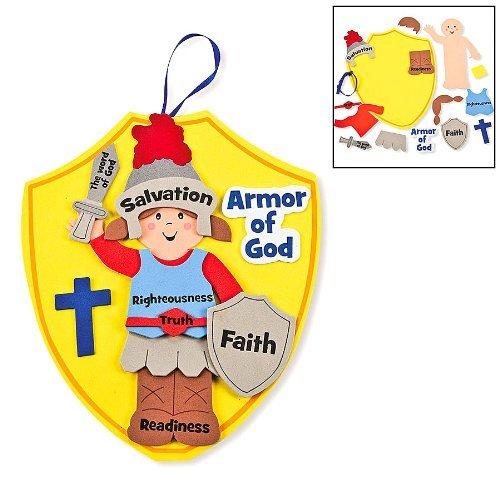 Fun Express Armor of God Kids Craft Kit 1 Dozen