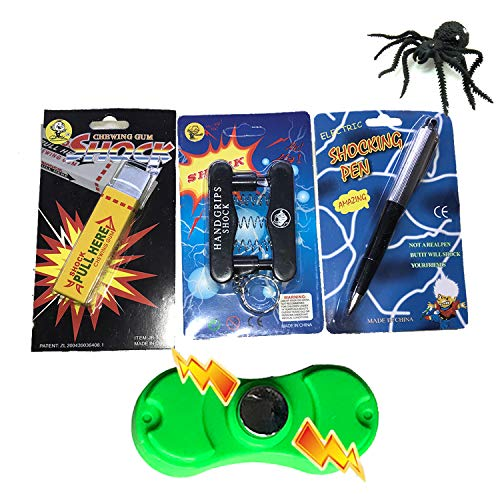 Leeche Shocking KitPrank Stuff KitShocking Gum Packs Shocking Pen Prank ToysFinger Trap Practical Joke Trick Toy Gift 5 Pack