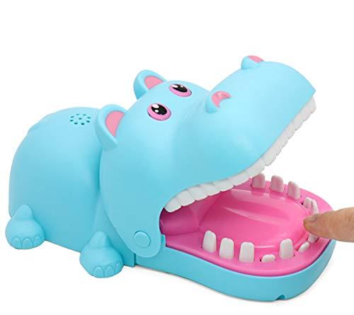 Practical Jokes Hippo Dentist Biting Finger Fun Games Funnier Blue Big Size