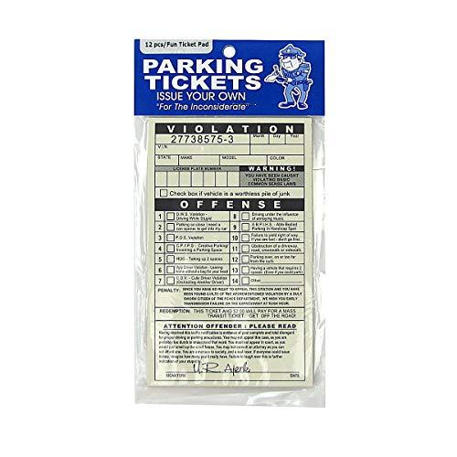 TGLLC Treasure Gurus Novelty Realistic Fake Parking Tickets Car Violation Prank Practical Joke Gag Gift