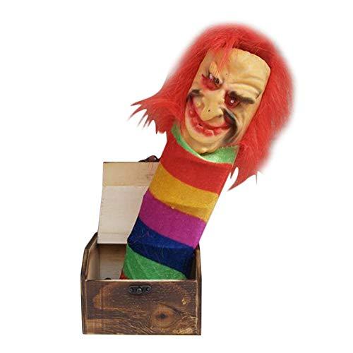 lzndeal Prank Scare BoxFrightening casePrank ToyPractical Joke ToysWooden Prank Scare Box Surprise Joke Horror Funny Halloween Prank Toys