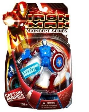 Iron Man Concept Series- Captain America Armor Movie Ironman Figure
