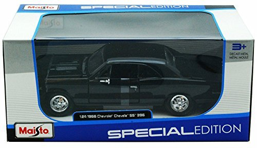Maisto 1966 Chevy Chevelle SS396 124 Scale Diecast Model Car Black