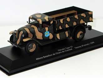 Citroen Type 23 49eme Bataillon de Chars de Combat - Tannay France 1940 Diecast Model Truck