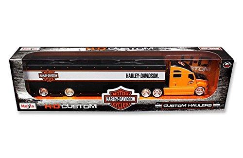 Maisto 11516OR Harley Davidson Custom Hauler Trailer Orange 1-64 Diecast Model Truck