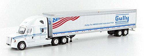 GULLY TRANSPORTATION CASCADIA Freightliner Trailer TONKIN 187 Diecast Truck HO Scale