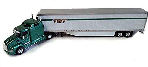 TWT TRANS WORLD TRANSIT KENWORTH T660 TRAILER TONKIN 187 Diecast Truck HO Scale