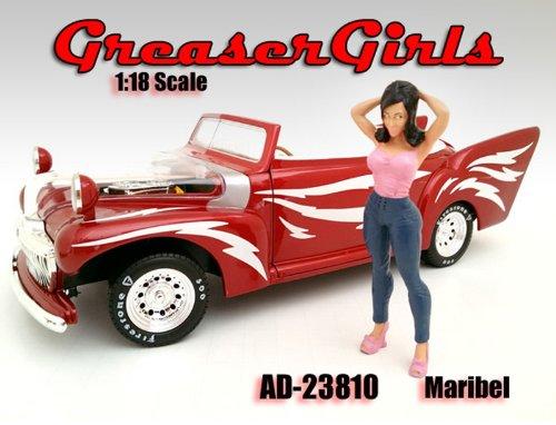 Greaser Girl Maribel Figurine  Figure For 118 Model Cars by American Diorama 23810