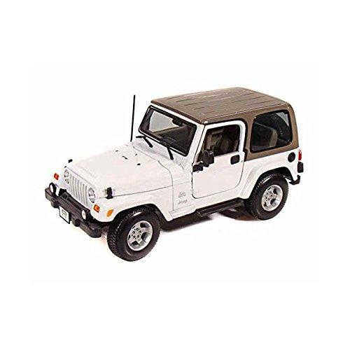 Jeep Wrangler Sahara 118 White - Maisto Diecast Models