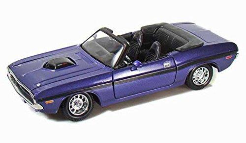 Maisto 1970 Dodge Challenger RT Convertible 124 Scale Diecast Model Car Purple by Maisto