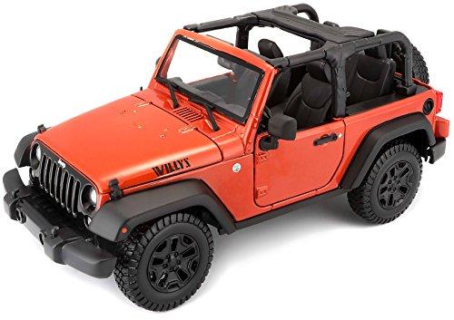 Maisto 2014 Jeep Wrangler No Top Diecast Vehicle 118 Scale