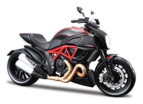 Maisto Diecast Motorcycles 1 12 Ducati DIAVEL RedBlackCarbon 20-11023Bk