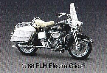 118 Scale Maisto Harley Davidson 1968 FLH Electra Glide Diecast Motorcycle Model
