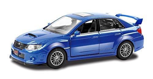 Jozen die-cast miniature cars cast World Subaru WRX JDC5002-BL