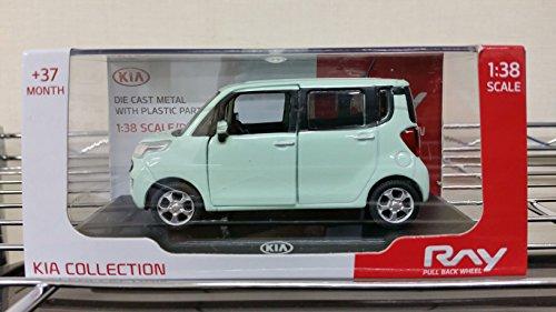 KIA Ray Aqua Mint 138 Diecast Miniature Display Case Included Front Door
