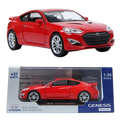 Pino B&d HYUNDAI GENESIS Coupe 138 Diecast Miniature Display Front Door RED