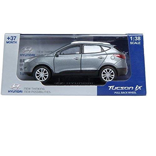 Pino B&d Hyundai Tucson Ix 138 Diecast Miniature Display Front Door Silver