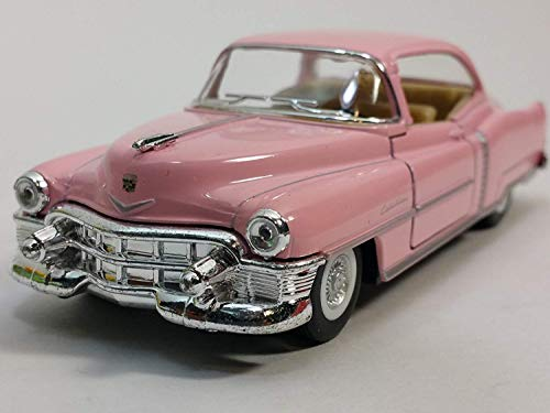 Kinsmart 1953 Cadillac Series 62 Cotton Candy Pink 2 Door Coupe 143 O Scale Diecast Car