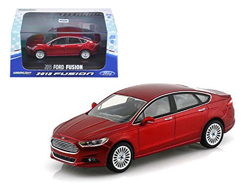Greenlight 86035 2013 Ford Fusion Ruby Red Metallic 143 Diecast Model Car