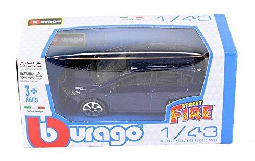 New Burago 143 Diecast Model Car - Seat Leon Cupra 5dr in Met Blue - Burago Street Fire Range by burago