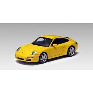 Porsche 911 997 Carrera S yellow Part 57882 Autoart 143 Diecast Model Car