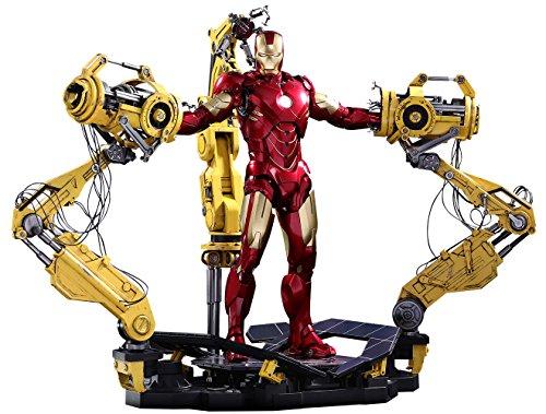 Hot Toys Marvel Iron Man 2 Iron Man Mark IV Diecast Figure with Suit-up Gantry 16 Scale Figure Set