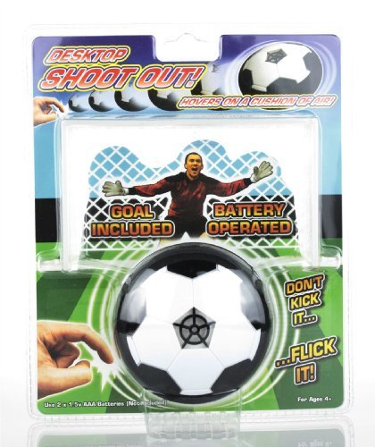 Hover Football Desktop Shootout Goal Executive Toy by Laughing Donkey