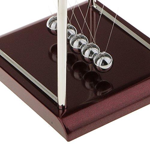 Generic Newtons Cradle Classic Desk Game Balls Executive Educational Toy Square-L