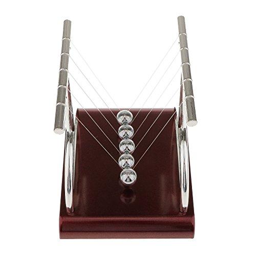 Generic Plastic Stand Pendulum Balance Ball Newton Cradle Office Desk Toy T Shape-L