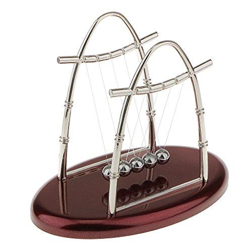 Newton Cradle Balance Ball Physics Science Pendulum Kids Educational Toy Arch-S
