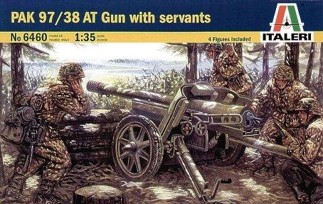 Italeri Pak 9738 AT Gun with Servants 135 Scale Military Model Kit