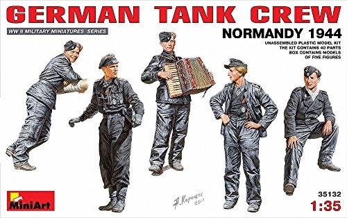 MiniArt German Tank Crew - Normandy 1944 135 Scale Military Model Kit