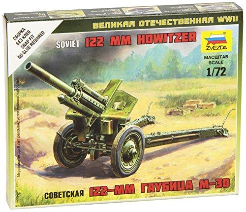 Zvezda 172 Snap Fit Soviet Howitzer 120mm M30 Military Model Kit